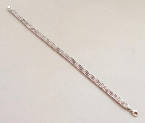 Wit gouden Christian armband met zirkonia
