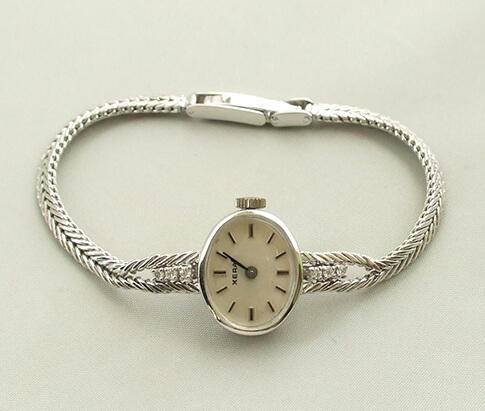 Wit gouden diamanten Xera horloge