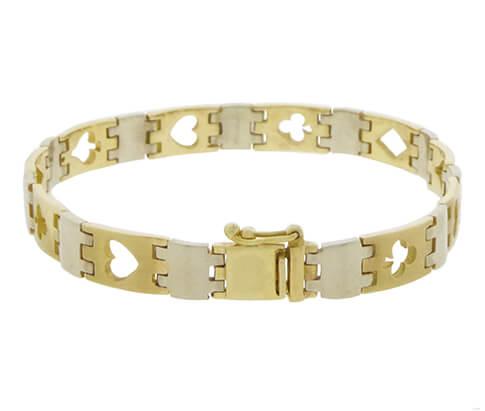 Gouden poker armband