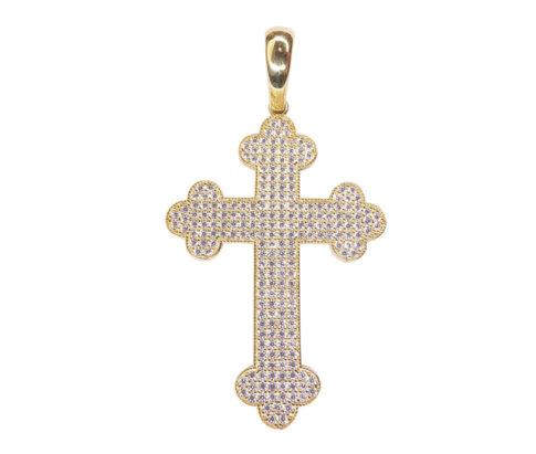 14 karaat geel gouden kruis