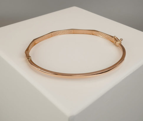 14 karaat rose armband met zirkonia