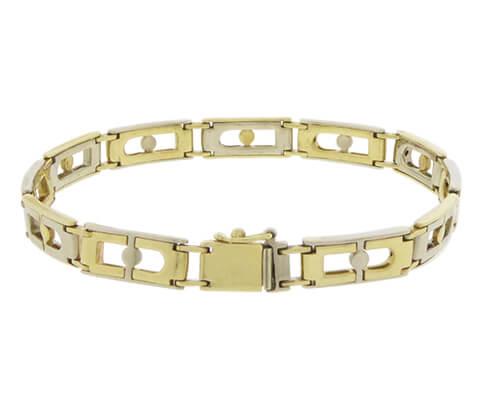 Christian gouden bicolor armband
