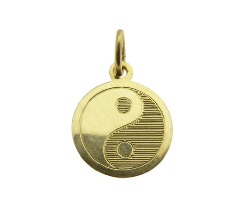 Gouden Yin Yang hanger