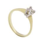 Gouden ring met Christian zirkonia