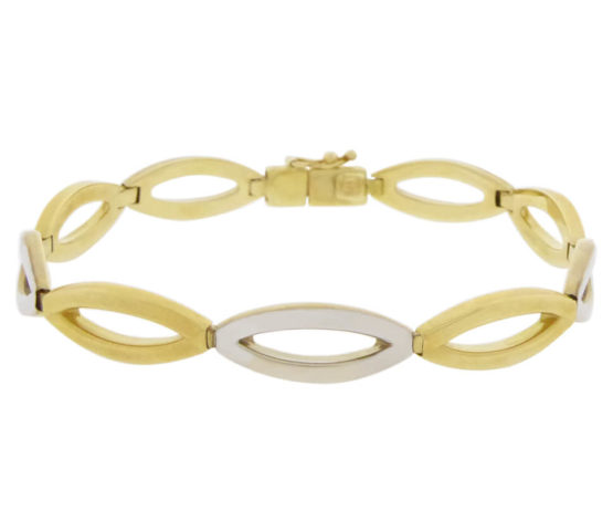 14 karaat bicolor Christian armband