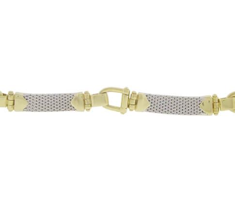 Christian bicolor gouden flexibele armband