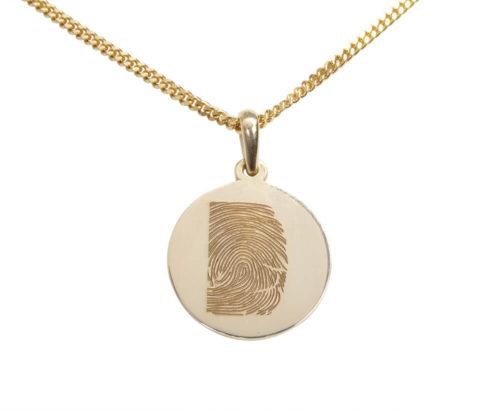 Geel gouden fingerprint hanger