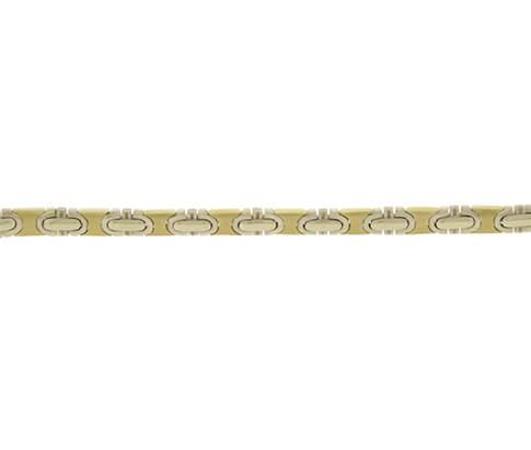 Gouden Christian bicolor schakelarmband
