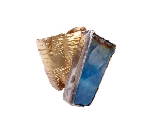 Zilveren ring met agaat