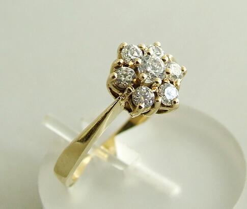 14 karaat geel gouden occasion ring