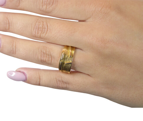 Geel gouden fantasie ring
