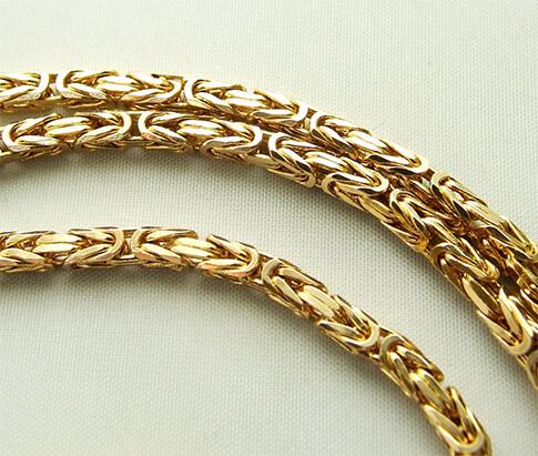 Geel gouden koningsketting
