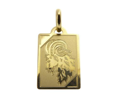 Gouden ram sterrenbeeld hanger