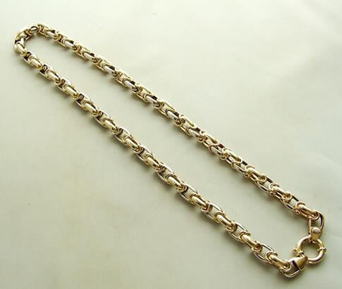 14 karaat bicolor collier