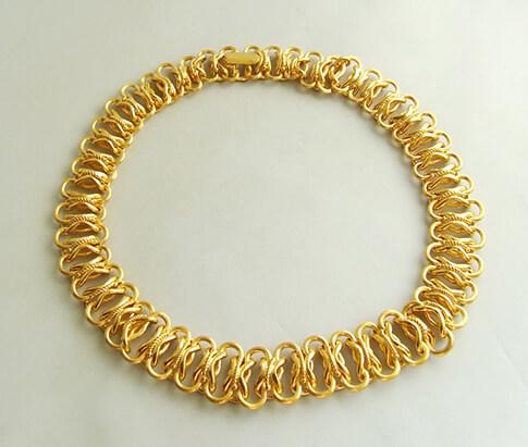 22 karaat geel gouden collier