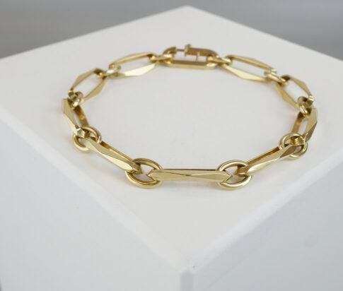 Geel gouden closed forever schakel armband