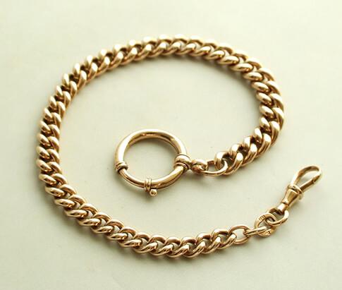 Rosé gouden zakhorloge ketting