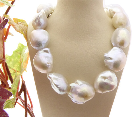 Barok parel collier met zoutzee parels