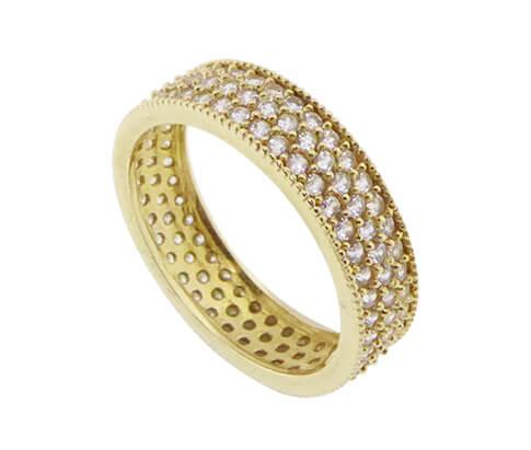 Christian geel gouden ring met zirkonia