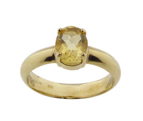 Christian gouden ring met citrien