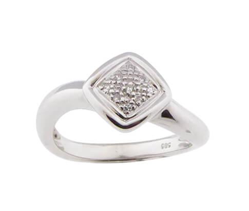 Christian wit gouden ring met briljanten