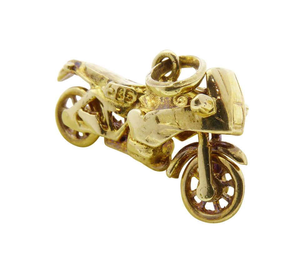 Gouden sport motor hanger