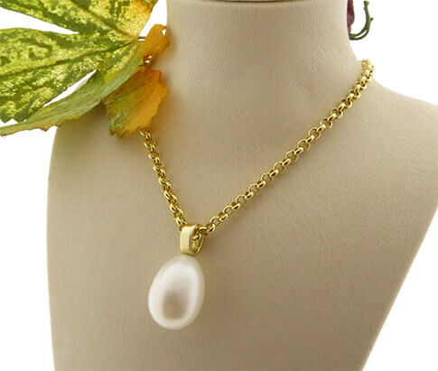 Single pearl zoetwaterparel collier