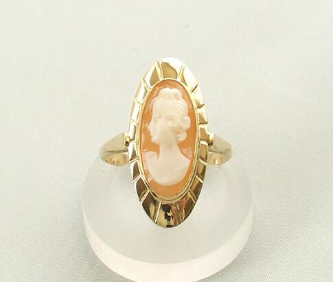 camee ring goud