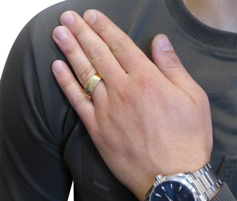 Gouden cachet ring
