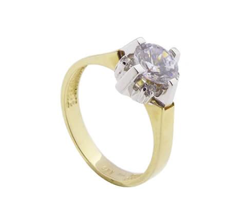 14 karaat gouden zirkonia ring