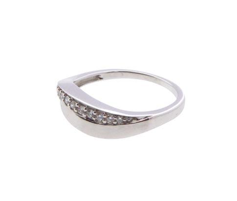 Christian 14 karaat wit gouden ring met diamanten