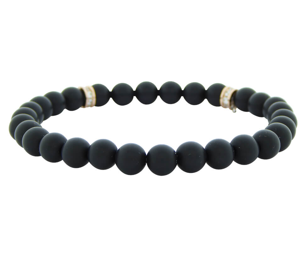 Christian Hematite Beads Bracelet