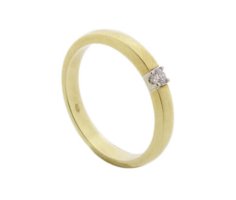 Christian bicolor gouden ring