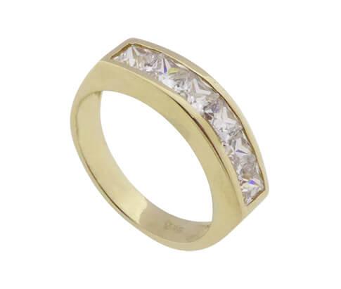 Gouden zirkonia ring