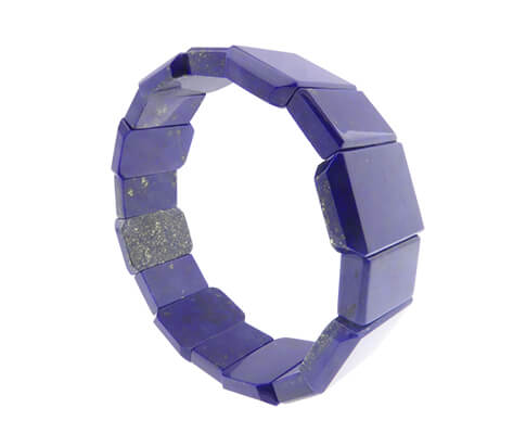 Lapis lazuli armband rechthoekig
