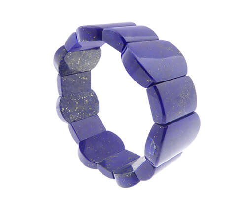 Lapis lazuli ovaal armband
