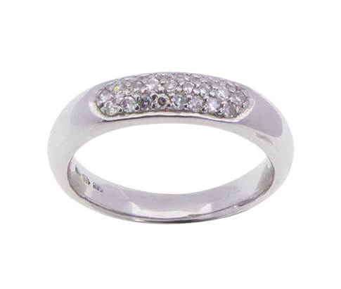Wit gouden Christian ring met zirkonia