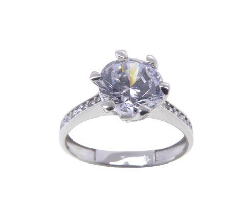Wit gouden Swarovski zirconia ring