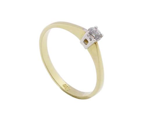 14 karaat gouden bicolor ring