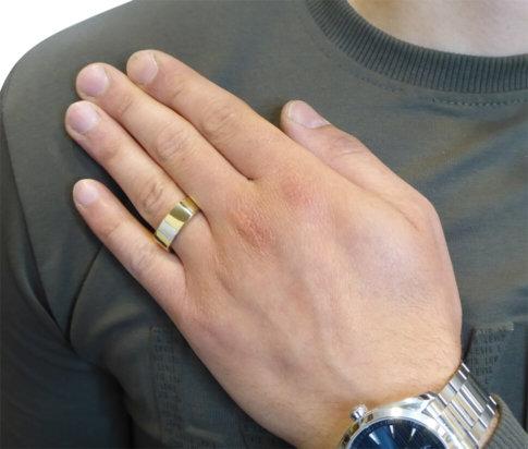 Bicolor gouden cachet ring