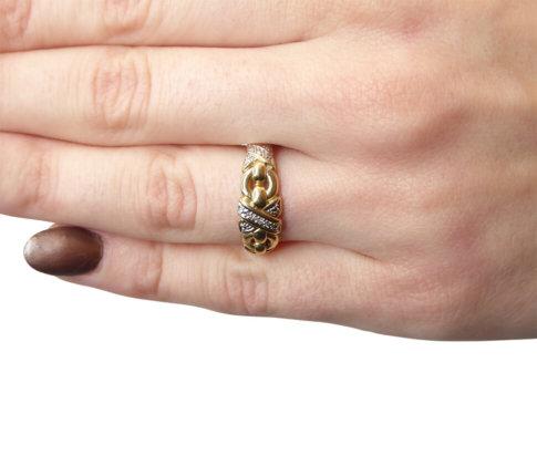 Bicolor zirkonia ring