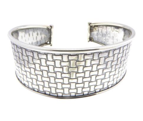 Christian zilveren klemarmband