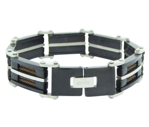 Leather and Steel Bracelet