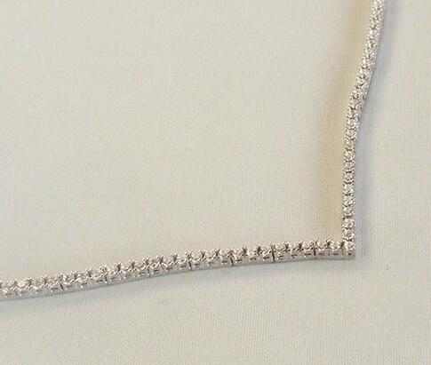Wit gouden zirkonia collier