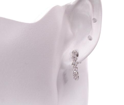 Zilveren collier, oorbellen en ring