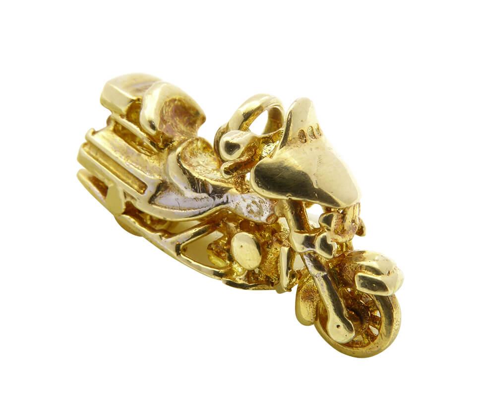 14 karaat gouden motor hanger