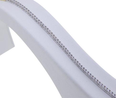 Bicolor alliance armband met zirkonia
