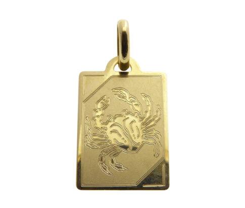 Geel gouden kreeft sterrenbeeld hanger