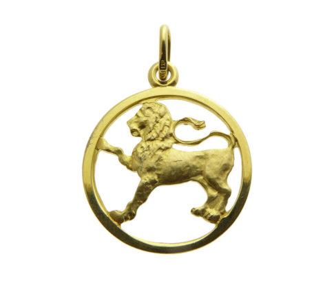 Geel gouden leeuw sterrenbeeld hanger