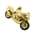 Geel gouden motor hanger